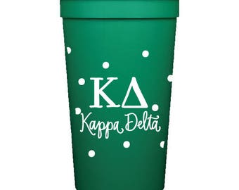 Kappa Delta  Stadium Cup with Dots