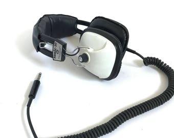 vintage 60s 70s STEREO headphones with Iphone/Ipod/Walkman capacity