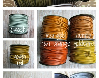 1.5mm Round Leather Cord, Leather Cord, 1.5, 1.5mm Leather, Round Leather Cord, Opaque Leather Cord, Leather for Jewelry, Colored Leather