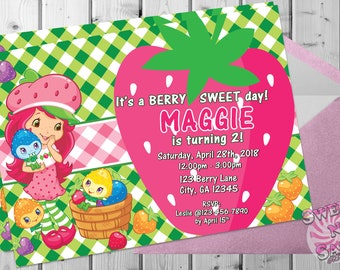 Strawberry Shortcake Invitation Printable - Strawberry Shortcake Birthday Party - Strawberry Shortcake Invite - Strawberry Shortcake Party