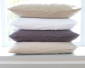 Washed Linen Pillowcase, Linen Bedding, Softened Linen, French Linen, Linen Pillow Cover, Linen Pillow Sham