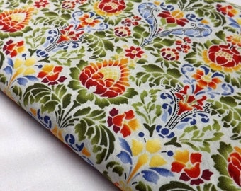 Eclectic Garden Jason Yenter 3EG1 In The Beginnings Black Cotton Quilting and Sewing Fabrics