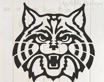 Wildcat SVG, PNG, DXF files, instant download