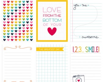 Live Free : Love Life 2 Digital Journal Cards - 3x4 4x6 project life pocket scrapbooking journaling note cards  - instant download - CU OK