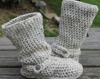Crochet Boots Pattern---------OATMEAL-----Slouchy Mid Calf Boots for the Street-----Boho Style