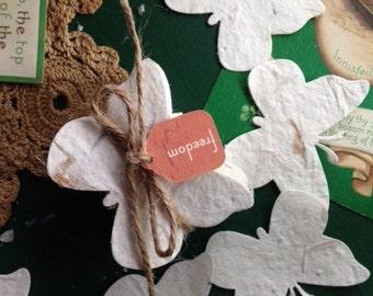 Springtime Plantable Flower Seed Paper Butterflies ~Bundle of 50  Wedding Funeral