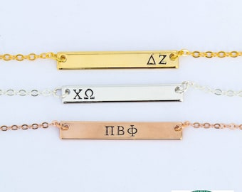 Sorority Necklace • Sorority Jewelry Sorority Gift Idea • Little Sister Gift Big Little Sorority • Sorority Jewelry Greek Letter