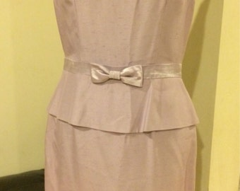Vintage 1980's Lovely Lilac Royalty Wiggle Dress