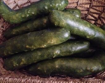 Primitive Folk Art Cucumbers