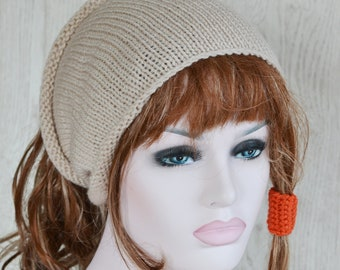 Stone Unisex Knitted Dreads Tube Hat Small Medium Large,  Dread Wrap Sock, Afro Hat,