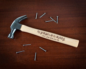 Personalized Engraved Hammer for Grandpa, Personalized Hammer Grandad, My Grandpa Can Fix Anything, Christmas Gifts for Grandfather