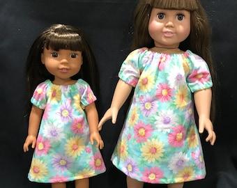 "Sister Dresses- 14 "" and 18"" Doll Dress, Sewuniquebykna"