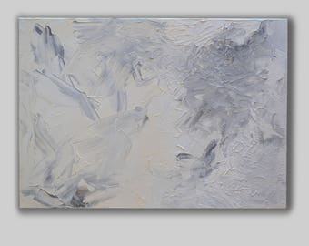 Shades of white abstract canvas