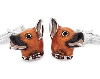 Silver Dog Cufflinks