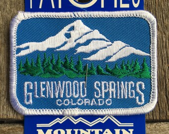 Glenwood Springs Colorado Vintage Souvenir Travel Patch from Mountain States Specialties