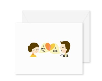 GREETING CARD | I Love You. I Know : Star Wars Modern Illustration Art