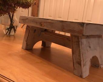 Rustic / farmhouse trestle step stool