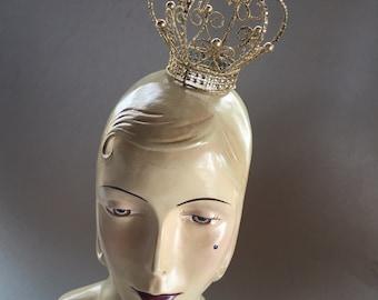 Krone, Fascinator, Prinzessin Krone, Queen, Derby Hut, Geburtstag Krone, Derby Krone, Kentucky Derby Hut, Triple Crown Hut, Stil c-5