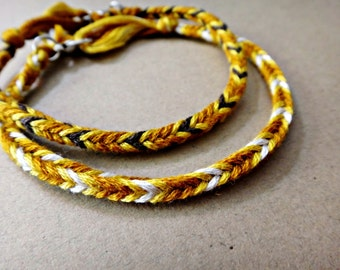 Twilight Jacob Inspired Handmade Friendship Bracelet Couple Bracelets Set of 2