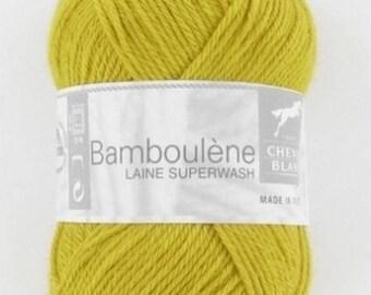 Yarn BAMBOULENE No. 101 horse white sunflower yellow