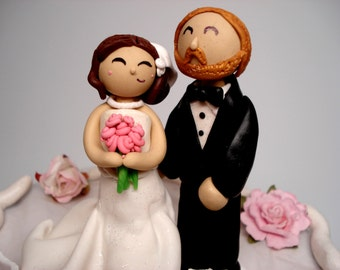 Custom Cake Topper Bride and Groom Wedding Cake Topper People Cake Topper Wedding Topper Personalized Wedding Cake Toppers
