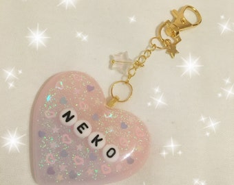 Kawaii ready to ship Neko keychain / bag charm