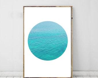 Ocean Photography, Sea Photography Art, Minimalist, Blue Photography, Printable Art, Wall Decor, Modern Photography Art, Ocean Print
