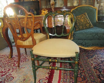 FRENCH TOLE PAINTED Chair