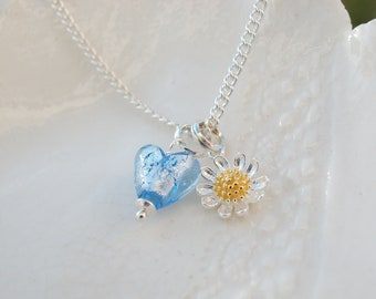Petite Murano & Sterling Necklace