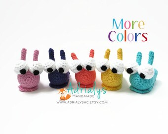 Crochet Slug | Crochet Animals | Crochet Toy | Amigurumi Slug | Bugs | Slug Toy | Crochet Amigurumi | Custom Made to Order