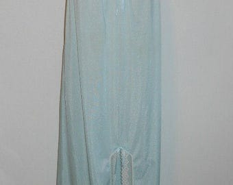 Vintage Green Nylon  Nightgown ~ 1980's St Michael Long Elegant Silky Green Nylon Nightgown ~ Green Nightgown ~ Vintage Nightgown