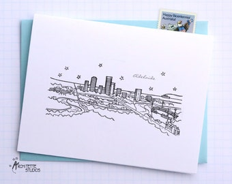 Adelaide, Australia - Asia/Pacific - Instant Download Printable Art - City Skyline Series