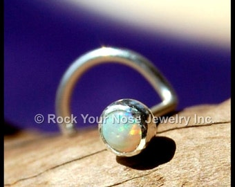 Opal (Genuine) Nose Stud / Opal Nose Ring / Opal Nose Scew / Opal Nose Bone / Rock Your Nose / (genuine / natural) Nose Stud 3mm - CUSTOMIZE