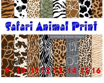Printed Vinyl, Safari Animal Print, HTV Vinyl,Pattern Vinyl, Heat Transfer Vinyl, Adhesive Outdoor Vinyl, HTV Vinyl, Iron On, Animal HTV