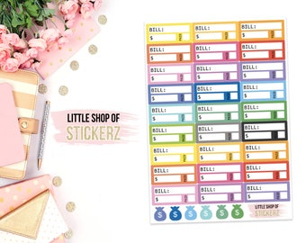 Bill Due || 18 Planner Stickers, Functional Planner Stickers, Functional Stickers, Bill Stickers, Household Stickers, Tracking Bill Stickers