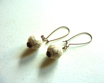 White Turquoise Earrings
