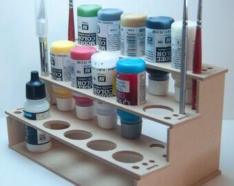 Model Paint Rack / Holder for Wargame or Miniature Bottle Paints