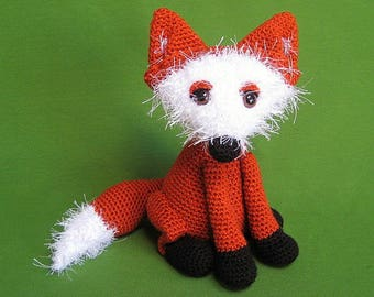 Fox Amigurumi Woodland Animal Toy Crochet Pattern PDF