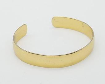 Vintage Signed Napier Gold Tone Cuff Bracelet - Like New