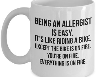 Allergist Gifts, Allergist Mug, Gift for Allergist, Funny Allergist,Allergist Quote, Allergist Present, Allergist Saying, Allergist Birthday