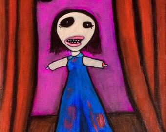 Talent Night ~ Original Acrylic Painting by LeanneM ~