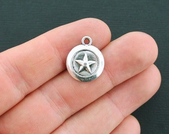 5 Star Charms Antique Silver Tone - SC4143