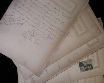 8 vintage autograph pages for scrapbooking and journals