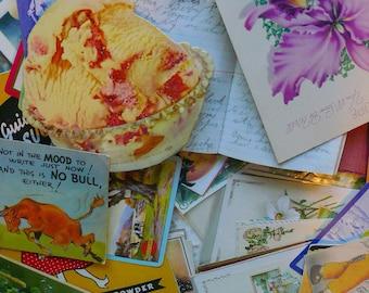 Paper Pack Vintage Paper Scrapbook Journals Collage DIY Kit Vintage Ephemera by VintageReinvented