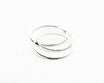 Silver Stacking Rings - Set of Three Silver Stacking Rings - Minimalist Jewelry - Minimalist Stacking Rings - Simple Silver Rings