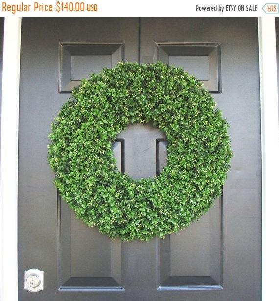 SUMMER WREATH SALE Year Round Wreath, Front Door Decor, Outdoor Boxwood Wreath, Room Decor, Wall Decor, Xl 24 Inch