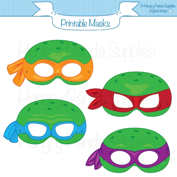 Turtles Printable Masks Printable Masks Turtle Masks Ninja