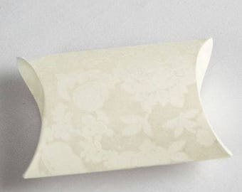 Pillow Style Ivory Wedding Favor Boxes (Pack of 10)