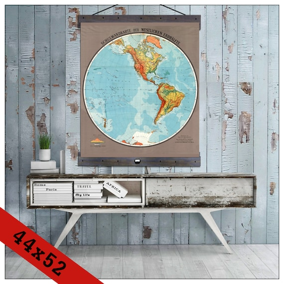 Mondomappa western hemisphere pull down map world map on canvas 1920 gumiabroncs Images