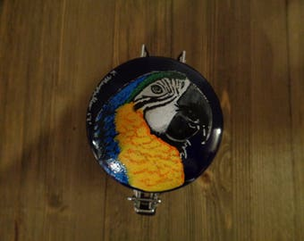 Macaw, Hand Painted Macaw Jar, Painted Ceramic Macaw Jar, Unique Gifts, Macaw, Ceramic Macaw Jar, Macaw Pet Treat Jar,